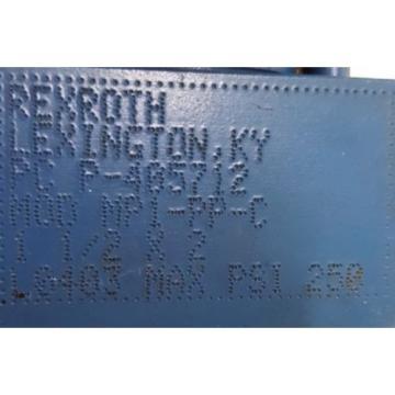 "REXROTH, Singapore Mexico BOSCH, HYDRAULIC CYLINDER, P-405712, MOD MP1-PP-C, 1-1/2 X 2"""