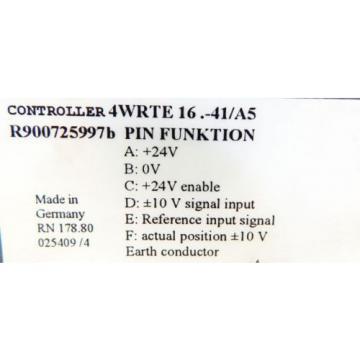 Rexroth Korea Canada 4WRTE-42/M R900891138 + 4WRTE 16 V1-200L-41 R900723643 -used-