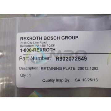 REXROTH Canada Egypt R902072549 RETAINING PLATE *NEW IN ORIGINAL PACKAGE*