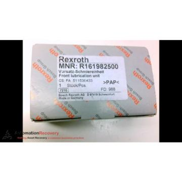 REXROTH Germany Japan R161982500 FRONT LUBRICATION UNIT, NEW #183312