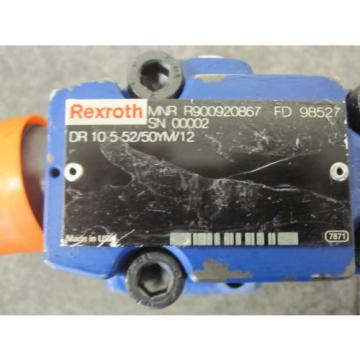 NEW Russia Dutch REXROTH PRESSURE REDUCING VALVE # DR10-5-52/50YM/12 # R900920867