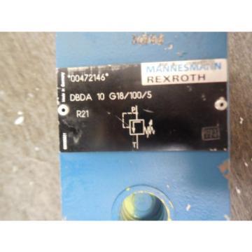 NEW India Egypt REXROTH PRESSURE CONTROL VALVE DBDA10G18/100/5