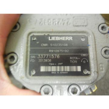 NEW Germany USA LIEBHERR REXROTH HYDRAULIC MOTOR R910975192 # 510235108