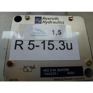 Rexroth Singapore Germany HED 3 0A 36/100K, Press button 6-100 Bar unused boxed