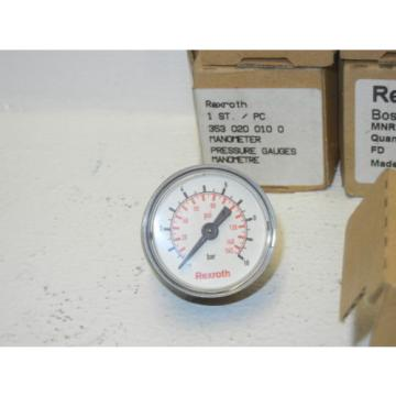 LOT Dutch china OF 5 REXROTH BOSCH 353 020 0100 NEW MANOMETER PRESSURE GAUGES 3530200100