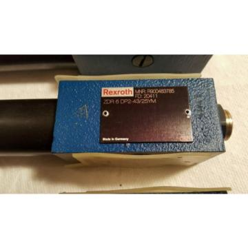 REXROTH Canada Korea ZDR 6 DP2-43/25YM PRESSURE REDUCING VALVE DIRECT OPERATED  R900483785