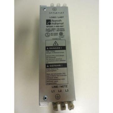 REXROTH Australia Korea INDRAMAT NFD03.1-480-007 LINE FILTER USED U4