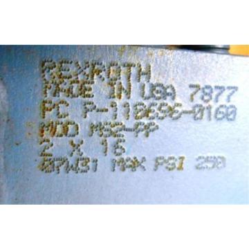 "REXROTH, Australia Russia BOSCH, HYDRAULIC CYLINDER, P-110696-0160, MOD MS2-PP, 2"" X 16"""