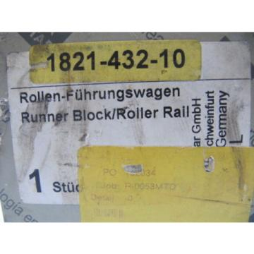 (NEW) Mexico Singapore Rexroth Star Runner Block / Roller Rail 1821-432-10