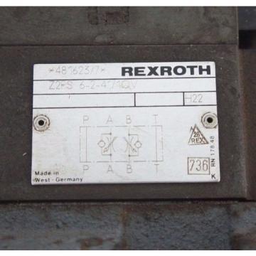 REXROTH USA Greece 4WEH16J60/6AW120-60NETS2 VALVE W/ Z2FS-6-2-41-10V & 4WE6J52/AW120-60
