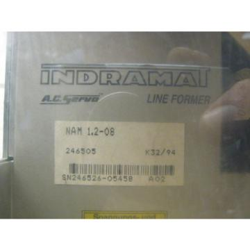Rexroth Russia Canada Indramat NAM 1.2-08 AC Servo Drive Line Former Used Free Shipping