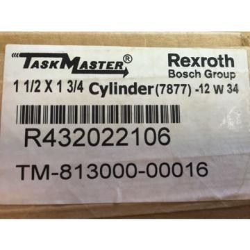 "Rexroth Australia Japan TM813000-0016 Taskmaster 1.5"" x 1.75"""