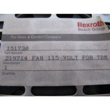 (NEW) Korea France Bosch Rexroth 115V Fan Assembly for TDM Drives 219714 151730