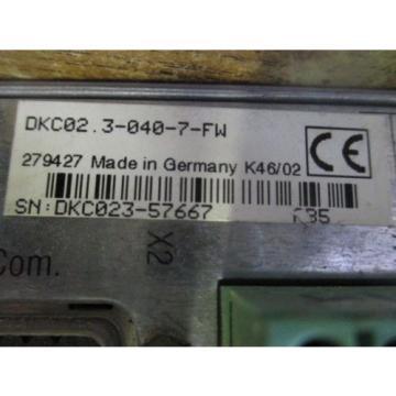 REXROTH Korea Korea INDRAMAT ECO DRIVE DKC02 3-040-7-FW