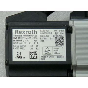 Rexroth India china Indramat MSM020B-0300-NN-M0-CG0 Servomotor MNR R911 295549FD 11 W 20 SN