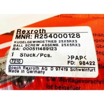 REXROTH Egypt Japan R254000128 R150221041 Kugelgewindetrieb 25x5Rx3 -unused/OVP-