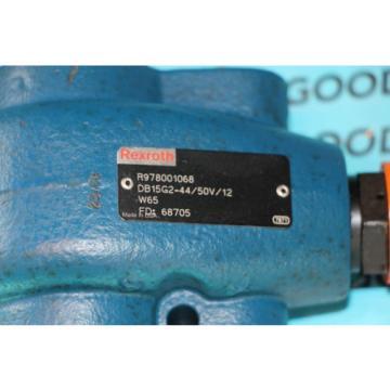 Rexroth Mexico Germany R978001068 DB15G2-44/50V/12 Hydraulic Pressure Relieve Valve New