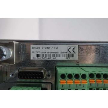 NEW Russia Singapore REXROTH INDRAMAT DKC06.3-040-7-FW 16A 0-480V-AC SERVO DRIVE D550389