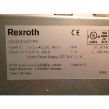 NEW Korea china IN BOX! BOSCH REXROTH INDRAMAT SERVO DRIVE DKC06.3-040-7-FW / R911279775
