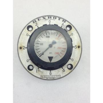 USED Singapore Russia  REXROTH PRESSURE GAUGE 0-2300 PSI  FAST SHIP!!! (B214)