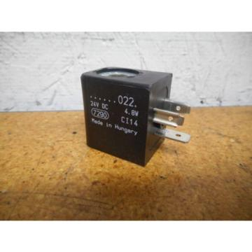 Rexroth Australia France 7290 24VDC Solenoid Coil 4.8W Used With Warranty