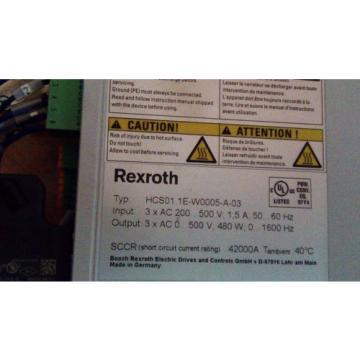 Rexroth Korea Canada IndraDrive HCS01.1E-W0005-A-03