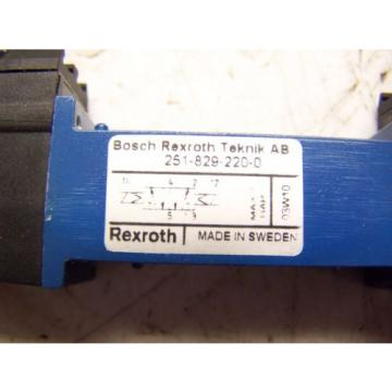 NEW USA Canada BOSCH REXROTH 251-829-220-0 MECMAN PNEUMATIK 04938 348 00 42-02 24V=1.2W