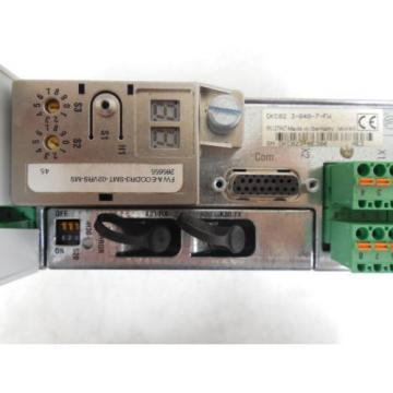 USED Singapore Korea Rexroth DKC02.3-040-7-FW Eco Drive Servo Controller Module without cover