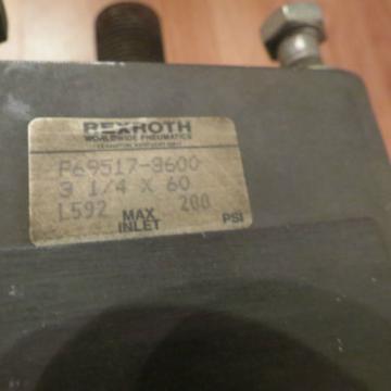 "REXROTH India Greece CYLINDER, P69517-3600, 3-1/4 X 60, L592, MAX 200 PSI, STROKE 60"""