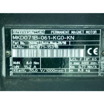 Rexroth France Mexico Indramat MKD071B-061-KG0-KN mit Kupplung Rotex GS 19/24