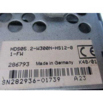 REXROTH Germany Mexico AC CONTROLLER HDS05.2-W300N-HS12-01-FW