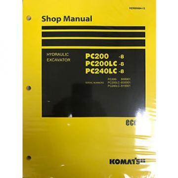 Komatsu PC200LC-8 PC200-8 pc240lc-8 Service Repair Printed Manual