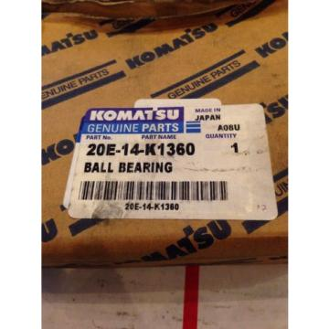 New OEM Genuine Komatsu Excavator Ball Bearing 20E-14-K1360 Fast Shipping!
