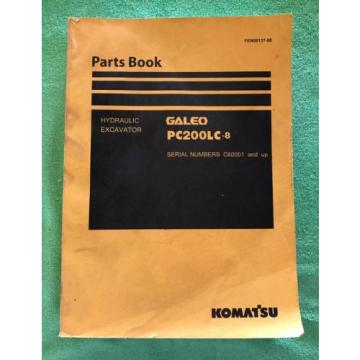 Komatsu PC200LC-8 Hydraulic Excavator Parts Book Manual s/n C60001 AND UP & GIFT