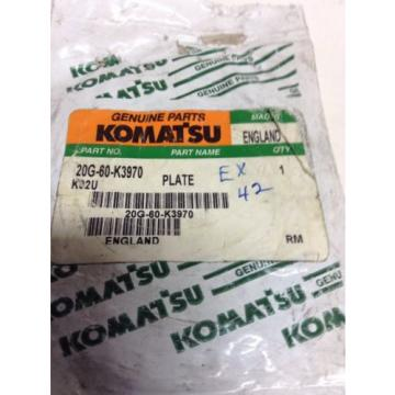 *NEW* Komatsu Round Plate P/N: 20G-60-K3970 *Warranty**Fast Shipping*