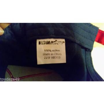 Komatsu Hat Baseball Ball Cap Blue Red White Adjustable Metal Buckle Cotton VGC