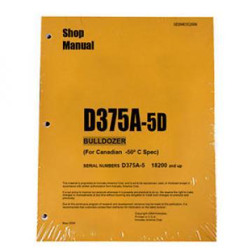 Komatsu D375A-5D Service Repair Workshop Printed Manual