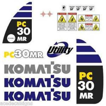 Komatsu PC30MR-2  Decals Stickers, repro Kit for Mini Excavator