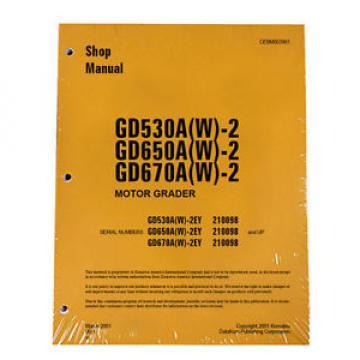 Komatsu Service GD530, GD650, GD670 Series Shop Manual