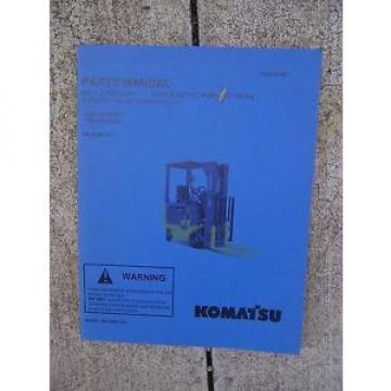 2003 Komatsu ABX7 Electric Forklift Truck Illustrated Parts Manual GE Controls V