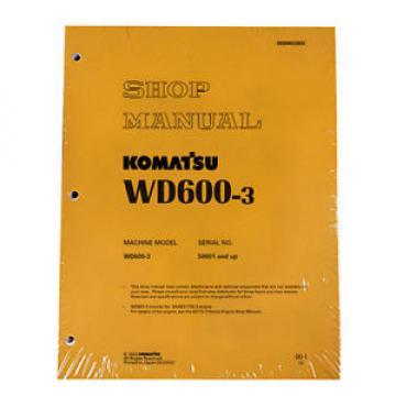 Komatsu Service WD600-3 Series Wheel Dozer Shop Manual