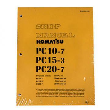Komatsu Service PC10-7, PC15-3, PC20-7 Shop Printed Manual NEW