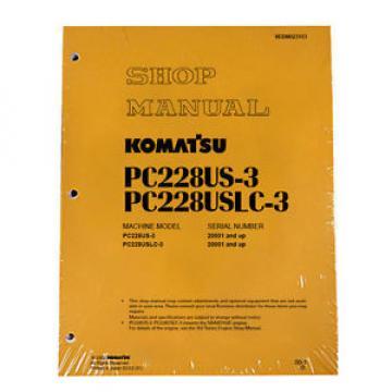 Komatsu PC228US-3, PC228USLC-3 Service Repair Printed Manual