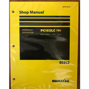 Komatsu Service PC160LC-7E0 Shop Repair Manual NEW