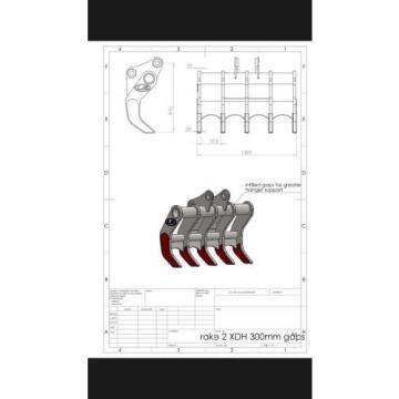 13 Ton XHD Excavator Rake CAT KOMATSU JCB HITACHI