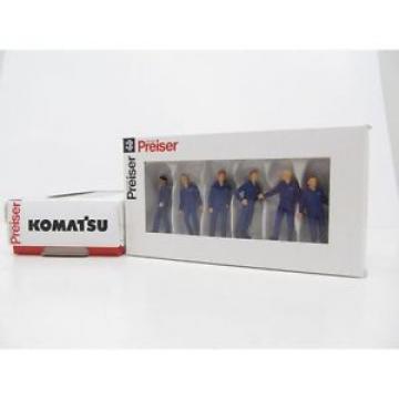 Komatsu Construction Worker Figurine Set-1:50 SCALE by Preiser  PRESKOM