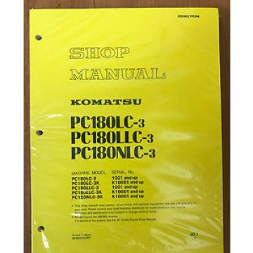 Komatsu PC180LC-3, PC180LLC-3 PC180NLC-3 Service Repair Printed Manual