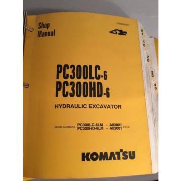 OEM Komatsu PC300LC-6 PC300HD SHOP SERVICE REPAIR Manual Book