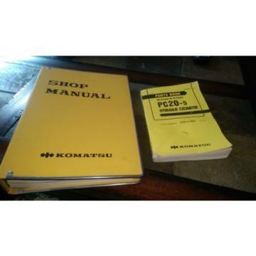 Komatsu PC20-5 repair & parts manuals
