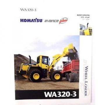 Komatsu WA320-3 Wheel Loader Original Sales/specification Brochure